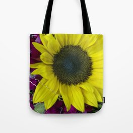 Sunflower and Sweet William Tote Bag