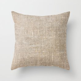 Len Sack Fabric Texture Throw Pillow