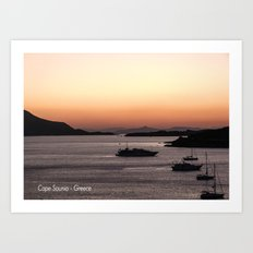 Cape Sounio at Dusk Art Print