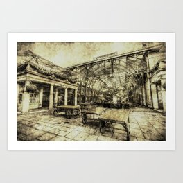 Covent Garden London Vintage Art Print