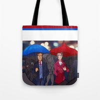 ace attorney Tote Bags featuring ace attorney by cclaire