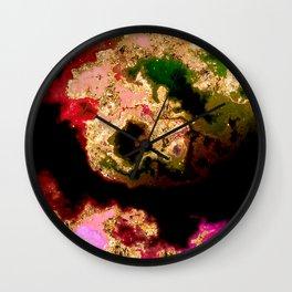 100 Starry Nebulas in Space 039 (Portrait) Wall Clock