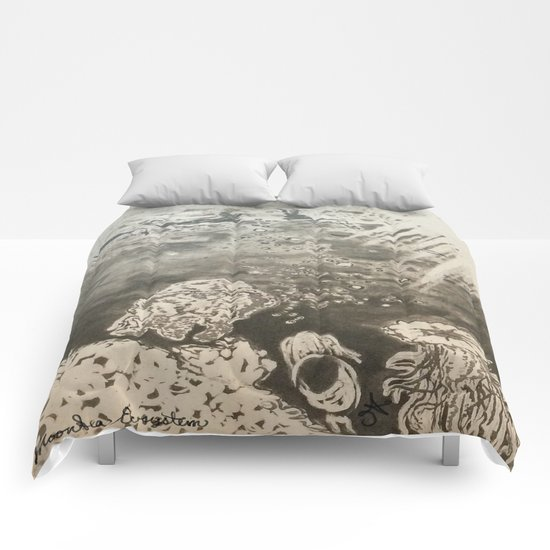 MoonSea EcoSystem Black and White Comforters