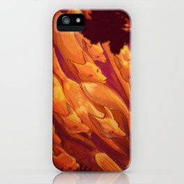 FLIGHT OF THE FOXES iPhone Case