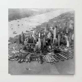 Historic Manhattan 1931 Metal Print