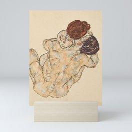 Man and Woman by Egon Schiele, 1917 Mini Art Print