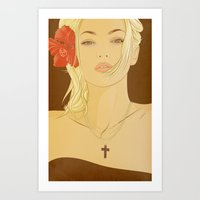 faith Art Prints featuring FAITH by MORPHEUS