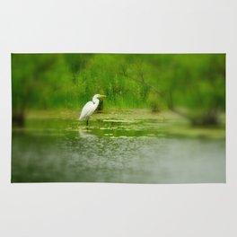 Marsh Egret Rug