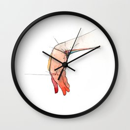 The Left, abstract hand art, NYC artist Wall Clock