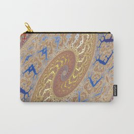 Fractal Double Spiral Carry-All Pouch