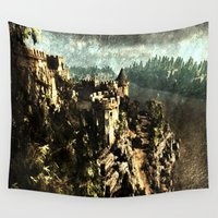 medieval Wall Tapestries featuring Medieval Castle by Foxxya