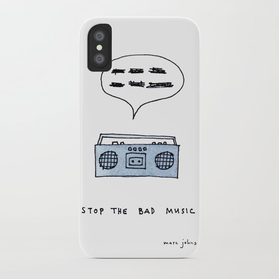 Stop the bad music iPhone Case