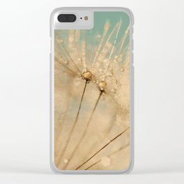 dandelion gold and mint Clear iPhone Case