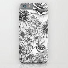 B&W Flowers  iPhone 6s Slim Case