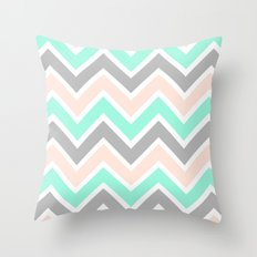 MUTED CHEVRON Throw Pillow