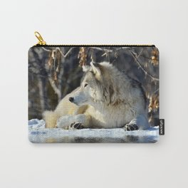 Wolf resting Carry-All Pouch