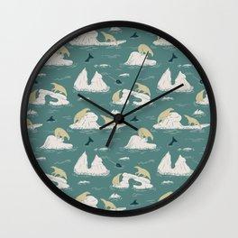 Go North Wall Clock