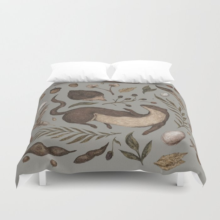 Weasel And Hedgehog Duvet Cover