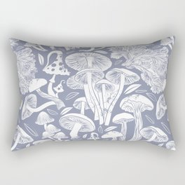 Delicious Autumn botanical poison IV // blue grey background Rectangular Pillow