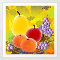 fruit Art Prints featuring Fruit by Ramon J Butler-Martinez