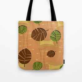 Tiki Bar Wallpaper Pattern Tote Bag