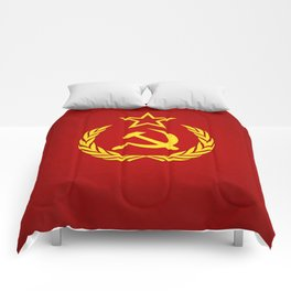 Hammer and Sickle Textured Flag Comforters