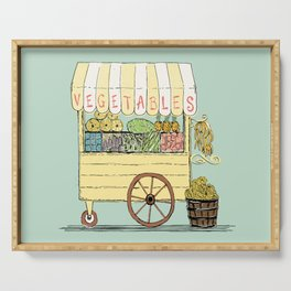 Veggie Cart on Mint Serving Tray