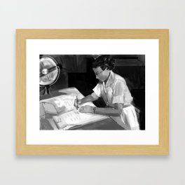 Women in Science, Hidden Figure: Katherine Johnson Framed Art Print