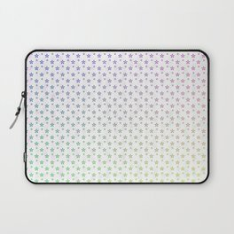 Ombre Asterisk Star Snowflakes Laptop Sleeve