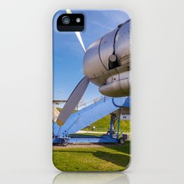 One engine of the Lockheed super constellation iPhone Case