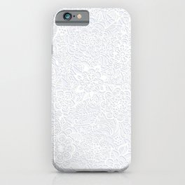 Embossed Powder & Pearl Lace iPhone Case