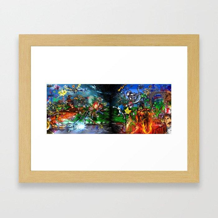 Nintendo Vs Sega Framed Art Print