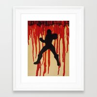 power ranger Framed Art Prints featuring Red Power Ranger by Oksana's Art