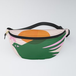 Abstraction_BIRD_SUN_Beautiful_Day_Minimalism_001 Fanny Pack
