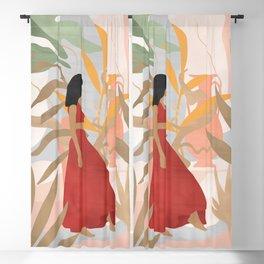 Lady Powers #illustration #Art Print Blackout Curtain