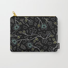 Floral Midnight Carry-All Pouch