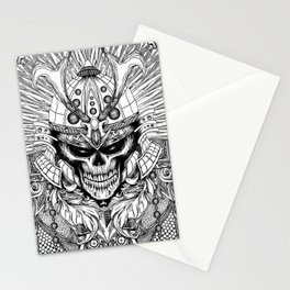 samurai skull Stationery Cards