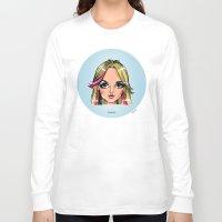 shameless Long Sleeve T-shirts featuring Britney Cartoon: Shameless by Eduardo Sanches Morelli