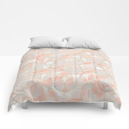Pattern Rose Triangle Comforters