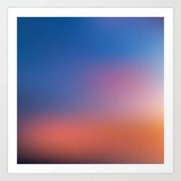 Sunset Gradient 2 Art Print