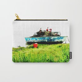 Lobster Dinghy With Lobster Traps Carry-All Pouch