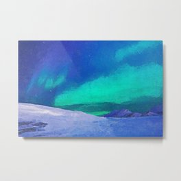 Aurora - Acrylic & Palette Knife Paint on Canvas Metal Print