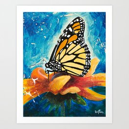Butterfly - Discreet clarity - by LiliFlore Art Print