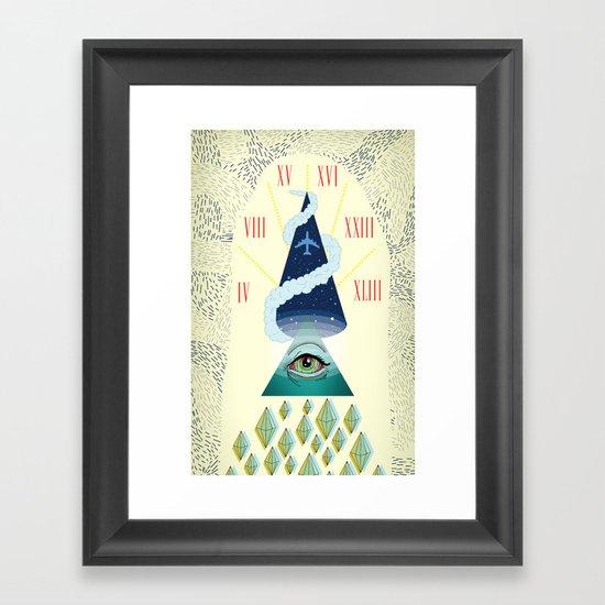The Sky is Open Framed Art Print