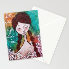 let your light shine on Stationery Cards