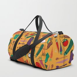 fall veggies yellow Duffle Bag