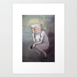 Trump at Night Art Print