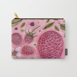 a lemon, a few raspberries and some bugs Carry-All Pouch
