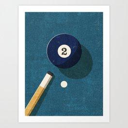 BILLIARDS / Ball 2 Art Print