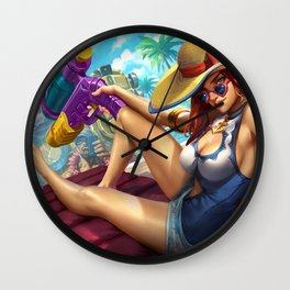 Pool Party Miss Fortune League of Legends Artwork Wallpaper lol Wall Clock